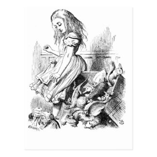 Alice and a Box of Animals Postcard