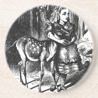 Alice and a Fawn Coaster