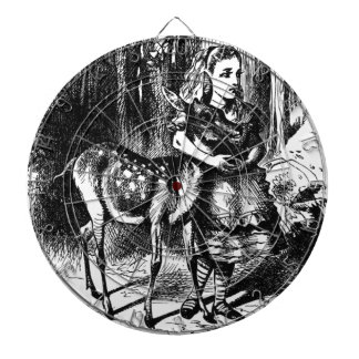 Alice and a Fawn Dartboard