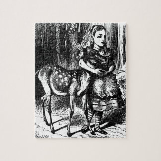 Alice and a Fawn Jigsaw Puzzle