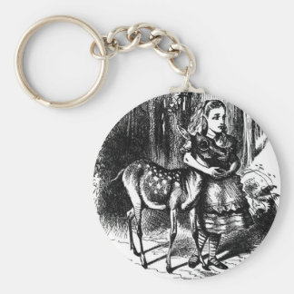 Alice and a Fawn Keychain