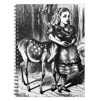Alice and a Fawn Notebook