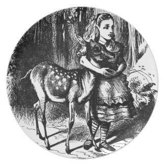 Alice and a Fawn Plate