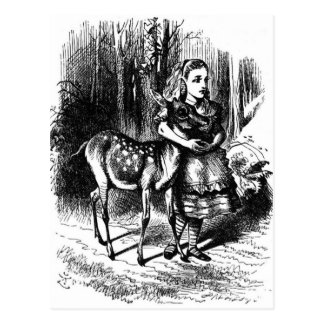 Alice and a Fawn Postcard