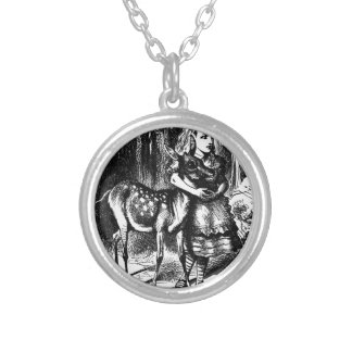 Alice and a Fawn Silver Plated Necklace