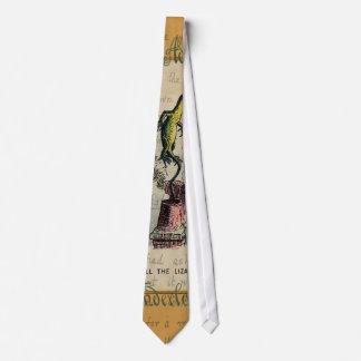 Alice and Bill the Lizard Tie