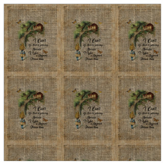 Alice and Cheshire Cat Quote Dictionary Art Fabric