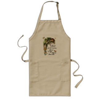 Alice and Cheshire Cat Quote Dictionary Art Long Apron