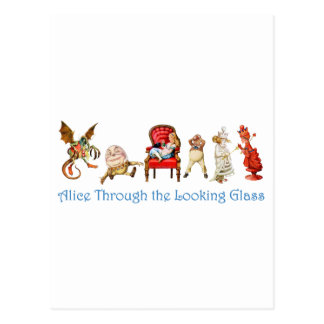 Alice and Friends Through The Looking Glass Postcard