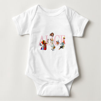 ALICE AND HER FRIENDS IN WONDERLAND BABY BODYSUIT