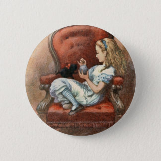 Alice and her Kitten 2 Inch Round Button