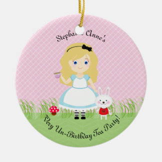 Alice and Her Tea Party Ceramic Ornament