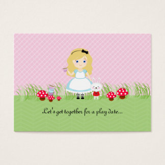 Alice and Her Tea Party Play Date Card