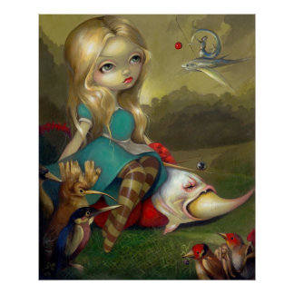 Alice and the Bosch Birds ART PRINT Wonderland