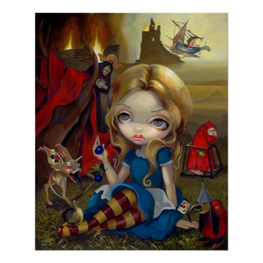 Alice and the Bosch Monsters ART PRINT Wonderland