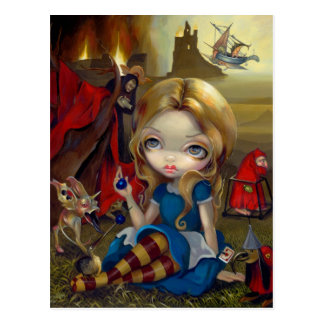 """Alice and the Bosch Monsters"" Postcard"