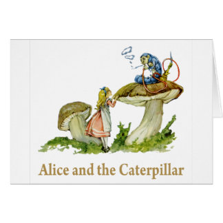 Alice and the Caterpillar Card
