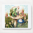 Alice and the Caterpillar in Wonderland Mouse Pad