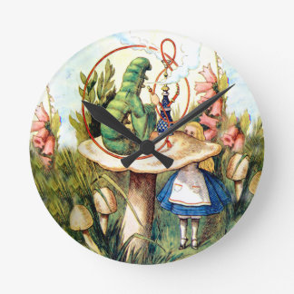 Alice and the Caterpillar in Wonderland Wall Clock