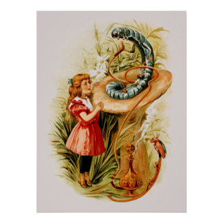 Alice and the Caterpillar Print (in 22 sizes)