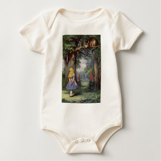 Alice and the Cheshire Cat Baby Bodysuit