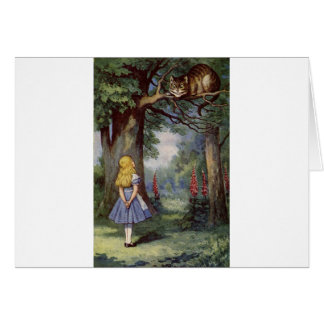 Alice and the Cheshire Cat Card
