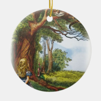 Alice and the Cheshire Cat Ceramic Ornament