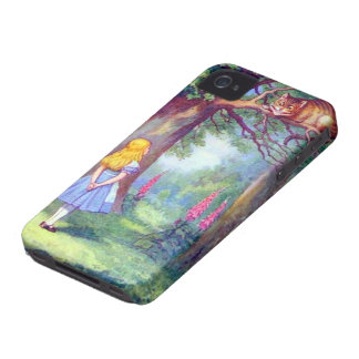Alice and the Cheshire Cat Full Color Case-Mate iPhone 4 Case