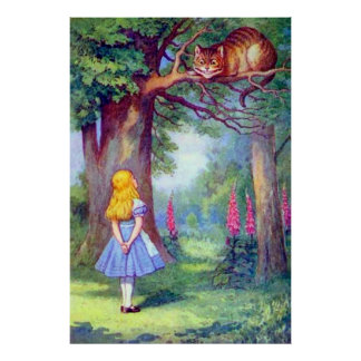Alice and the Cheshire Cat Full Color Poster