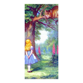 Alice and the Cheshire Cat Full Color Rack Card