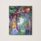 Alice and the Cheshire Cat Full Colour Jigsaw Puzzle