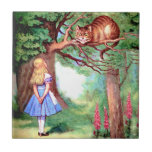 Alice and The Cheshire Cat in Wonderland Tile
