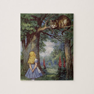 Alice and the Cheshire Cat Jigsaw Puzzle
