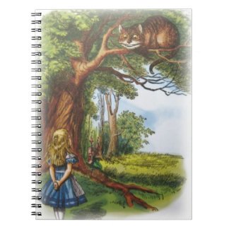 Alice and the Cheshire Cat Notebook