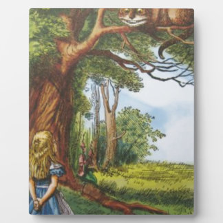 Alice and the Cheshire Cat Plaque