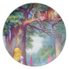 Alice and the Cheshire Cat Plate