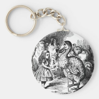 Alice and the Dodo Keychain