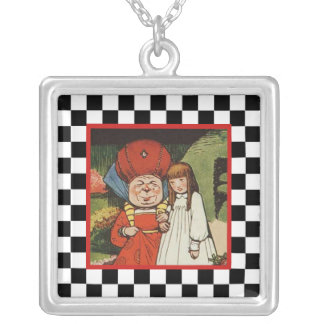 Alice and the Duchess 2 Silver Plated Necklace