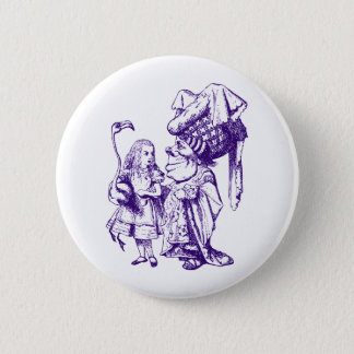 Alice and the Duchess Inked Purple 2 Inch Round Button
