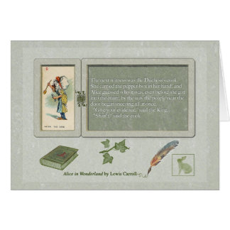 Alice and The Duchess's Cook Greeting Card