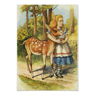 Alice and the Faun Poster