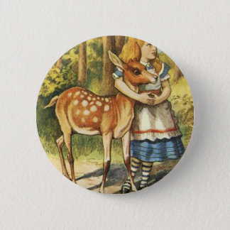 Alice and the Fawn 2 Inch Round Button
