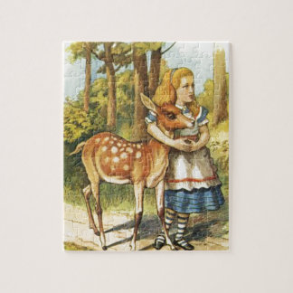 Alice and the Fawn Jigsaw Puzzle