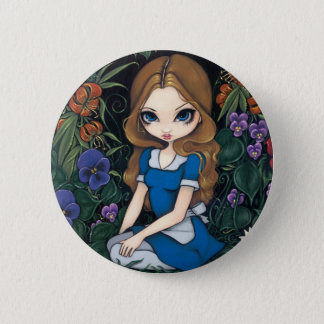 """""""Alice and the Flowers"""" Button"""