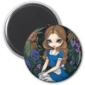 """""""Alice and the Flowers"""" Magnet"""