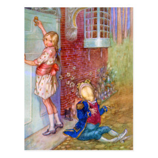 Alice and The Frog Footman At The Duchess' Doorway Postcard