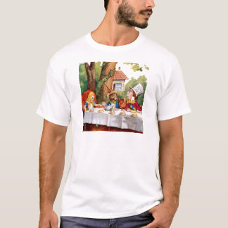 Alice and the Mad Hatter's Tea Party in Wonderland T-Shirt