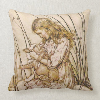 Alice and the Pig Baby 1 Throw Pillow