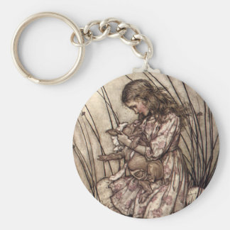 Alice and the Pig Baby Basic Round Button Keychain
