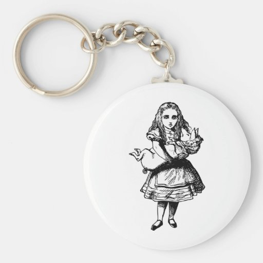 Alice and the Pig Baby Inked Black Key Chain
